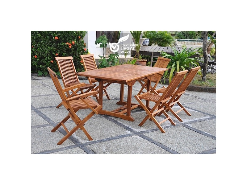 Table jardin en teck cool best with table jardin en teck for Table urano conforama
