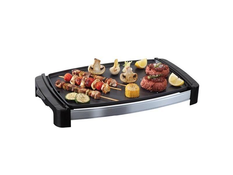 Grill plancha avec plaque à revêtement antiadhésif 2200w - plaque de cuisson anti-adhésive