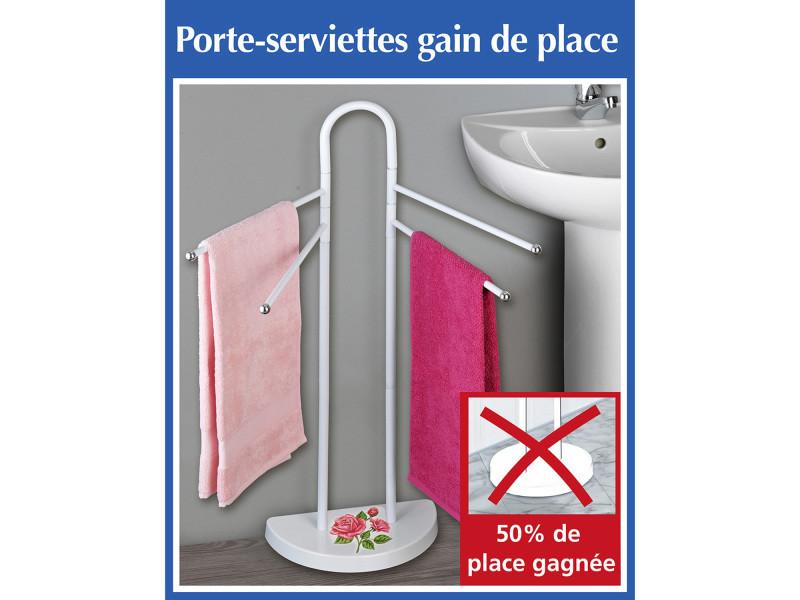 Porte serviettes rose romantique conforama for Porte serviette salle de bain conforama