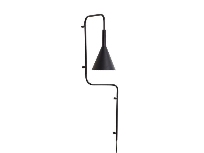 Lampe murale en métal noir h81