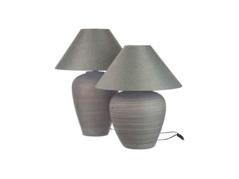 Boule Chevet 62387 Lampe Axedale J De Vente Line Ceramique Gris A534RjL