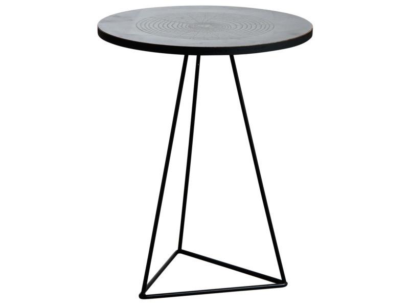 Aubry gaspard - table ronde métal zinc antique