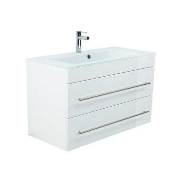 Meuble salle de bain vitro 1000 avec vasque en verre en - Meuble vasque salle de bain conforama ...