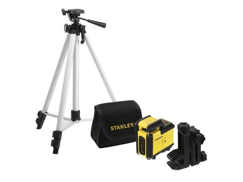 Stanley - kit niveau laser 360° rouge cross360 avec trépied + sac de transport