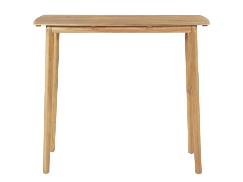 Icaverne - tables d'extérieur famille table de bar bois d'acacia massif 120 x 60 x 105 cm