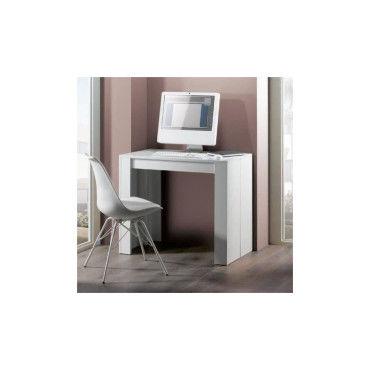 table console extensible bois blanc avec 5 rallonges extenso vente de console conforama. Black Bedroom Furniture Sets. Home Design Ideas