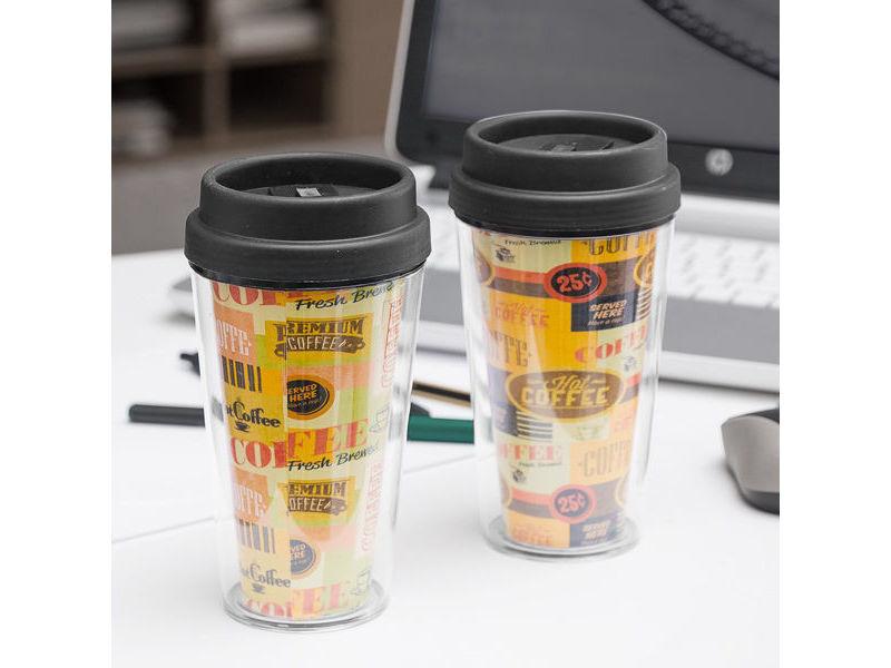 Carafes et verres originaux inedit verre avec couvercle et double paroi coffee