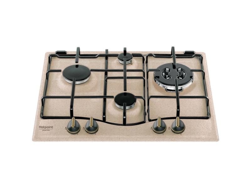 Hotpoint pc 640 t (av) r /ha noir, bronze, avoine intégré (placement) gaz 4 zone(s)