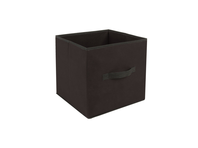 Lot 2x boîte de rangement pour meuble - 31 x 31 cm - noir