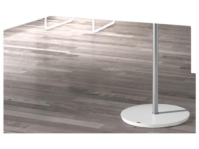 Portemanteau métalique design gris crochet en blanc, dim: l37 x p37 x h182 cm -pegane-