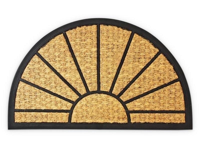 Paillasson tapis porte d'entrée essuie-pieds fibre de coco nature 75 x 45 x 0,7 cm helloshop26 2013020
