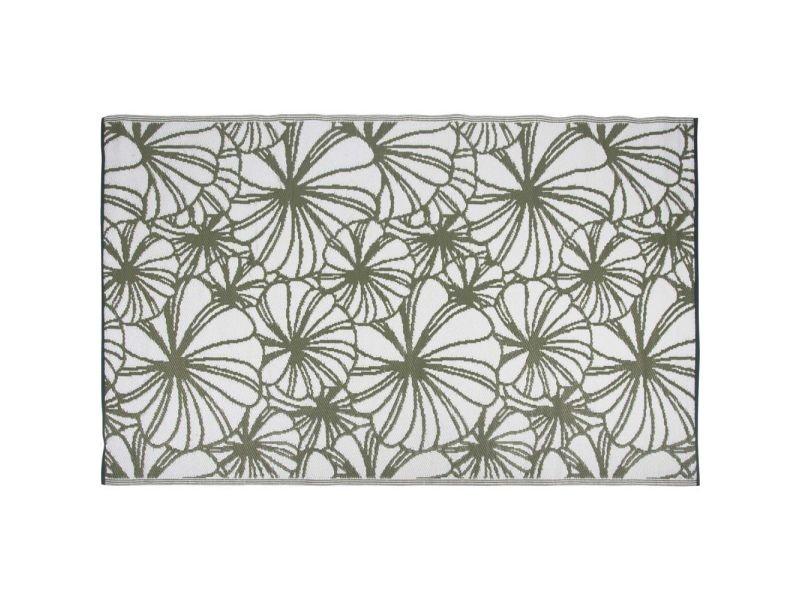 Tapis de jardin réversible motif floral