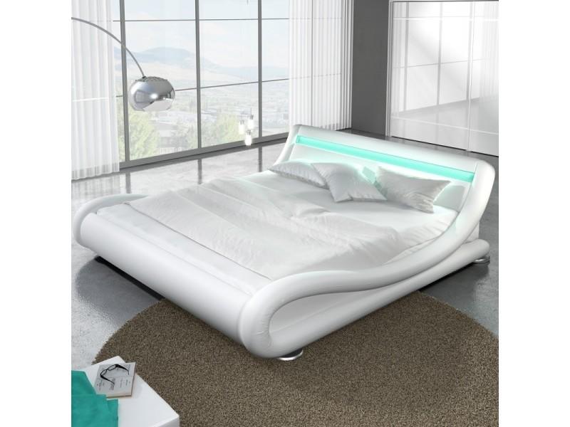Lit design led julia - blanc - 160x200