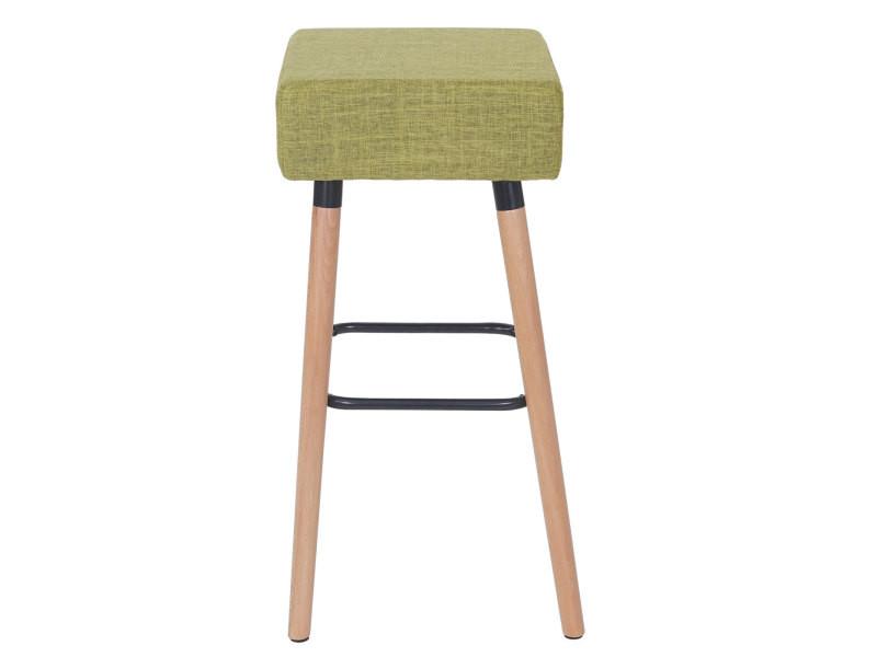 tissu ~ vert clair 2x tabouret de bar Stirling chaise de comptoir
