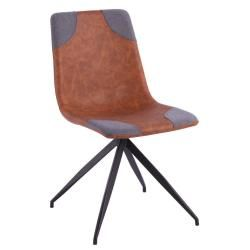 excellent chaise design comete cognac with conforama cognac. Black Bedroom Furniture Sets. Home Design Ideas