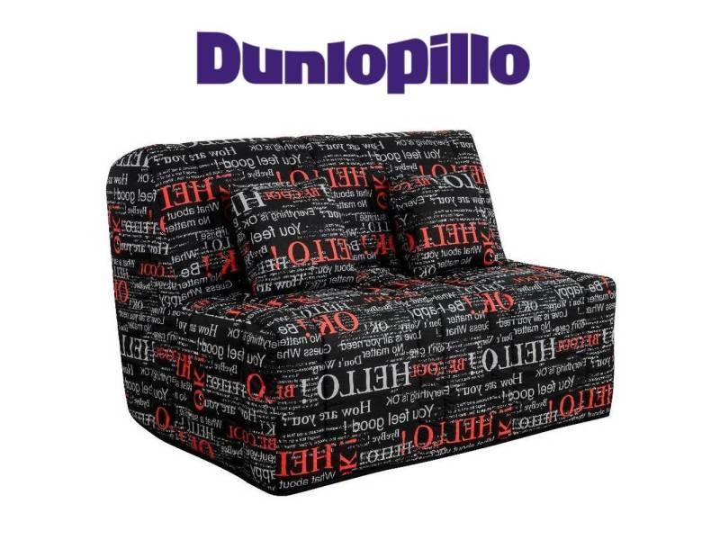 Canapé convertible bz love imprimé système slyde matelas dunlopillo 15cm 20100875429