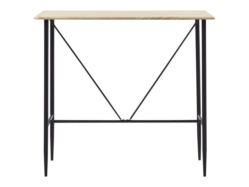 Vidaxl table de bar chêne 120 x 60 x 110 cm mdf 281548