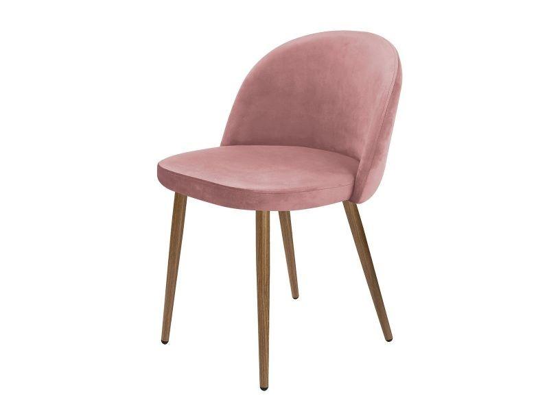 Bergen - lot de 2 chaises roses - Vente de ALTOBUY - Conforama