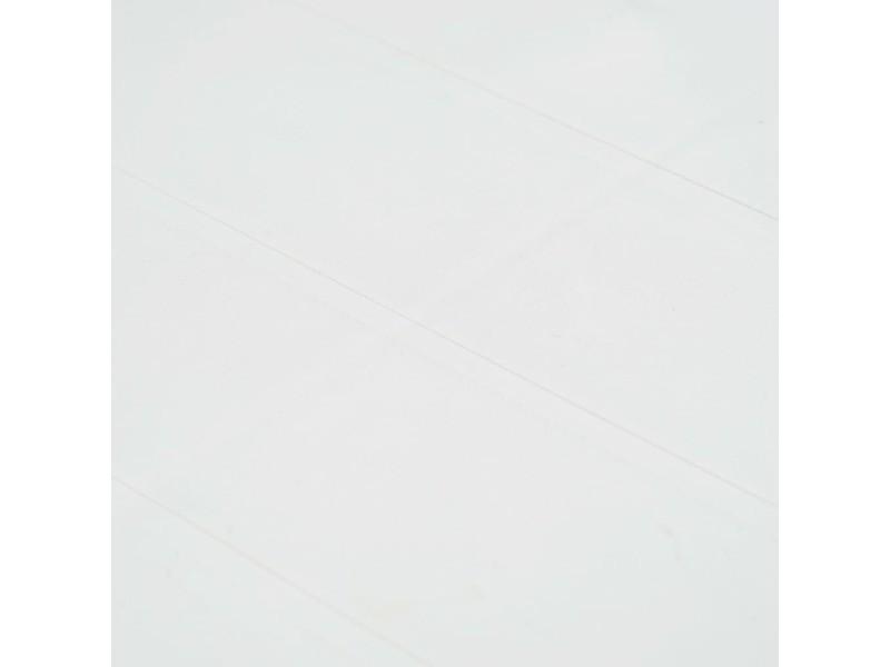 Vidaxl meuble à dîner d'extérieur 9pcs plastique blanc aspect de rotin 276134