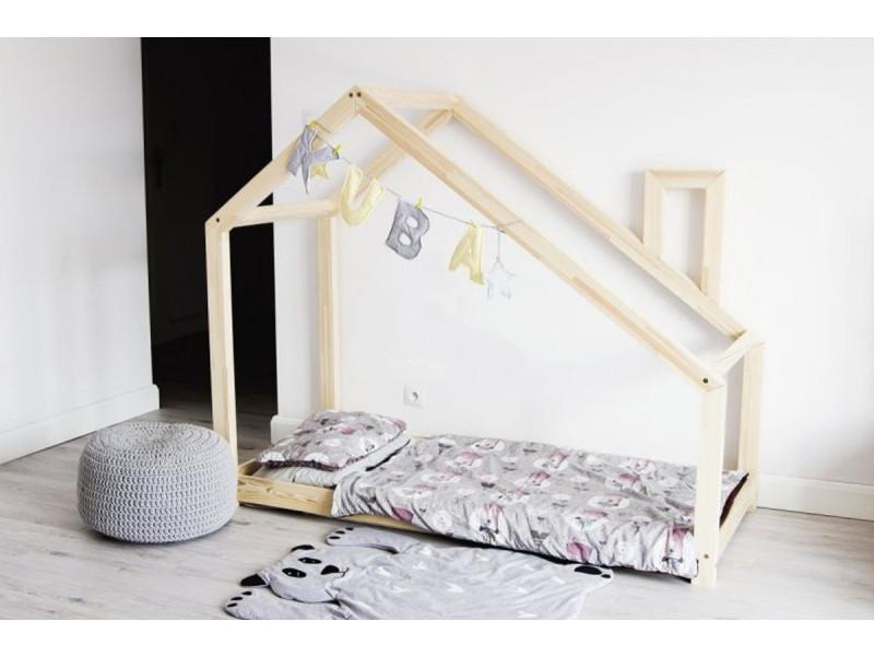 lit cabane bois massif sommier 160x200 vente de lit. Black Bedroom Furniture Sets. Home Design Ideas
