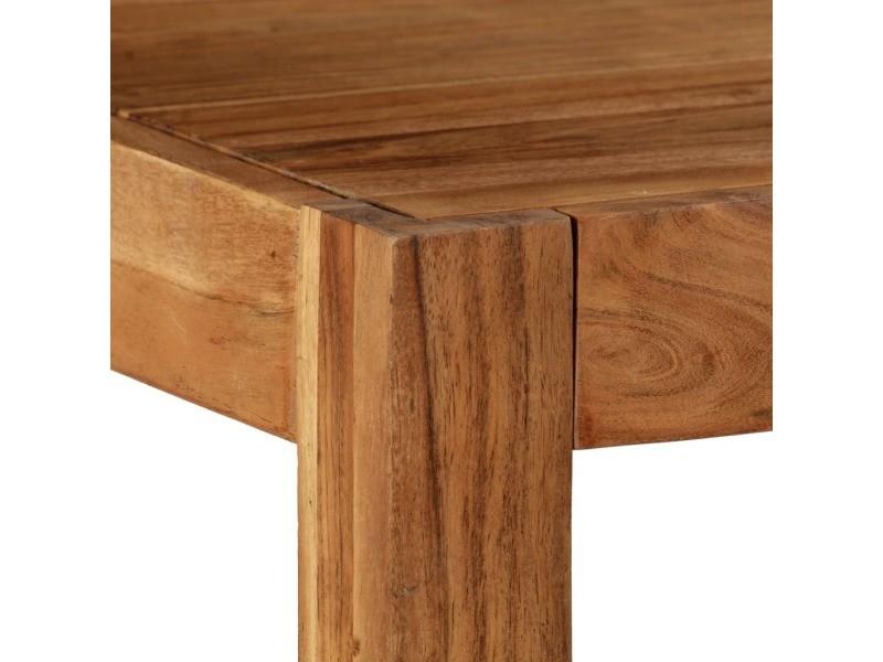 Vidaxl table de salle à manger bois d'acacia massif 120x60x78cm marron 246141