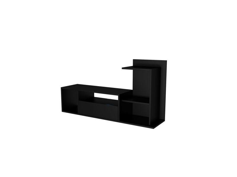 Meuble tv design sumatra - l. 120 x h. 65 cm - noir