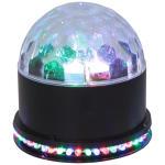 Ibiza ufo-astro-bl double effet de lumière à led rvb noir