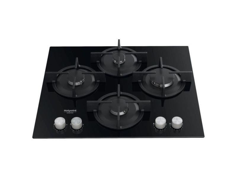 - hags61sbk - table de cuisson gaz - 4 foyers - 7300w - l55.8 x l48.3cm -noir HOT8050147589762