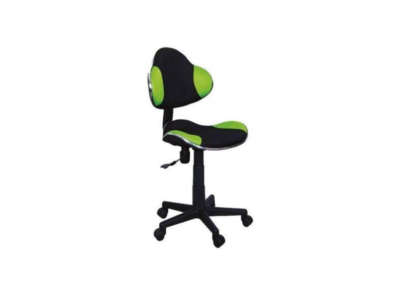 Abbey   chaise pivotante pour enfants   hauteur réglable 80-92 cm   tissu haute qualité   chaise de bureau à roulettes - vert