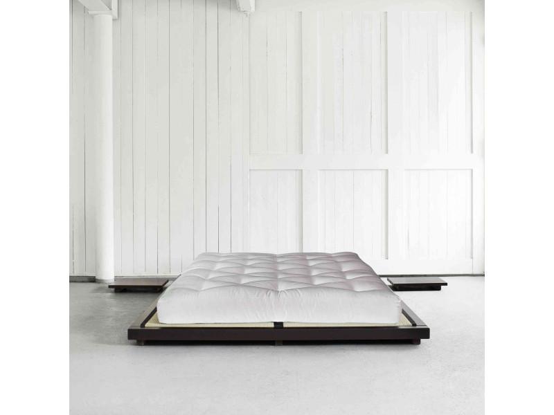 Ensemble Lit Futon Style Japonais Matelas Futon écru 160x200 Conforama