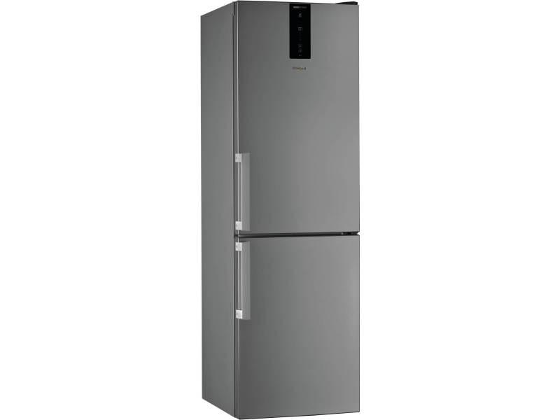 Réfrigérateur combiné 338l froid ventilé whirlpool 60cm a++, w7821ooxh