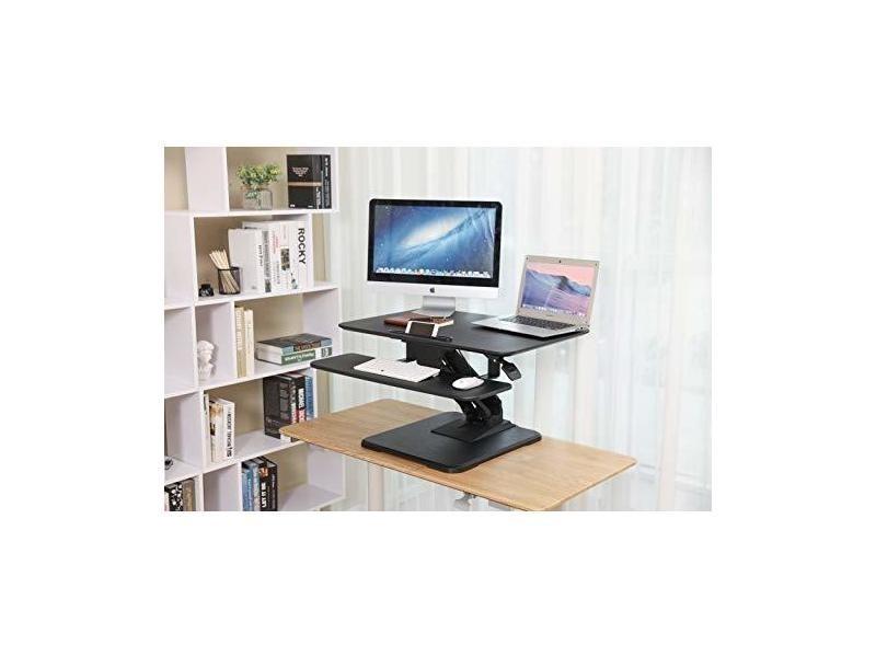 Songmics standing desk bureau debout poste de travail réglable en