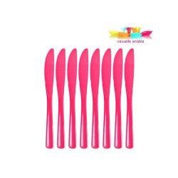 50 couteaux  jetables plastique rose