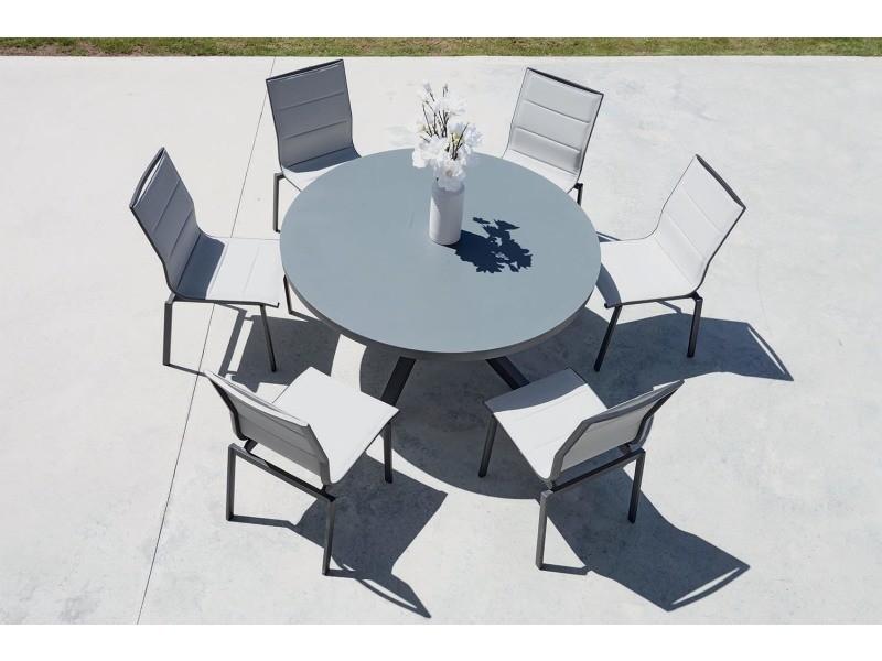 Salon de jardin table ronde + 6 chaises provence - Vente de IMAGIN ...