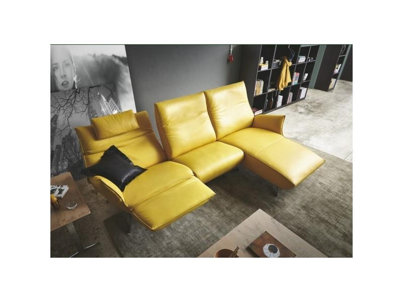Canapé angle design relax électrique longchair cuir jewel relax tm