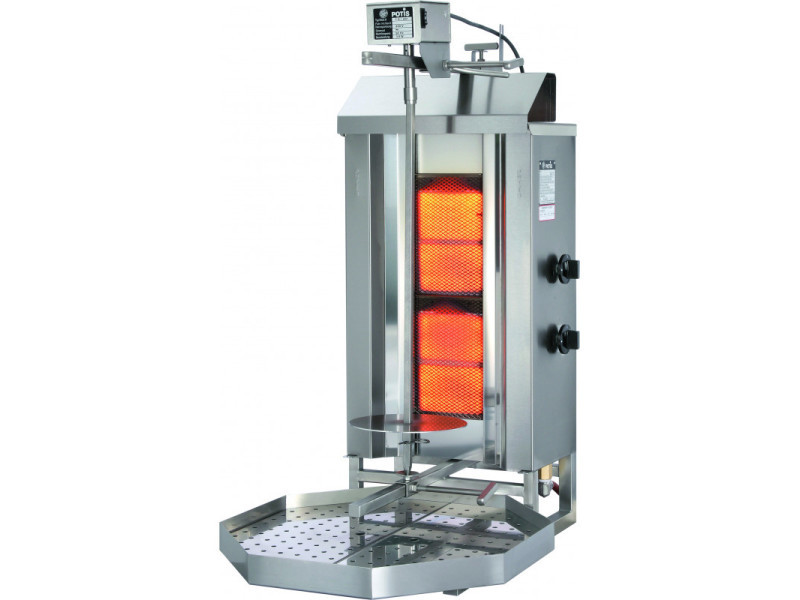Döner kebab professionnel à gaz 30 à 120 kg - stalgast - acier inoxydable40 kg