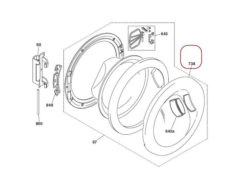 Protection hublot exterieur pour lave linge hoover - 41000757