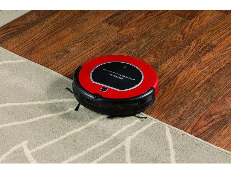 Aspirateur robot de 0,3l 25w noir rouge