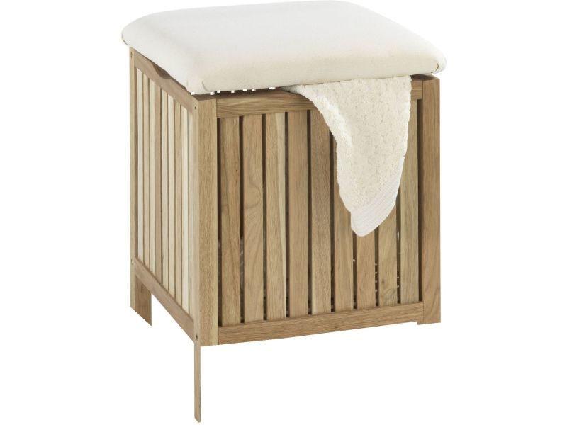 Tabouretpanier A Linge Design Pour Salle De Bain Abs Blanc Wenko Sur Bricozor