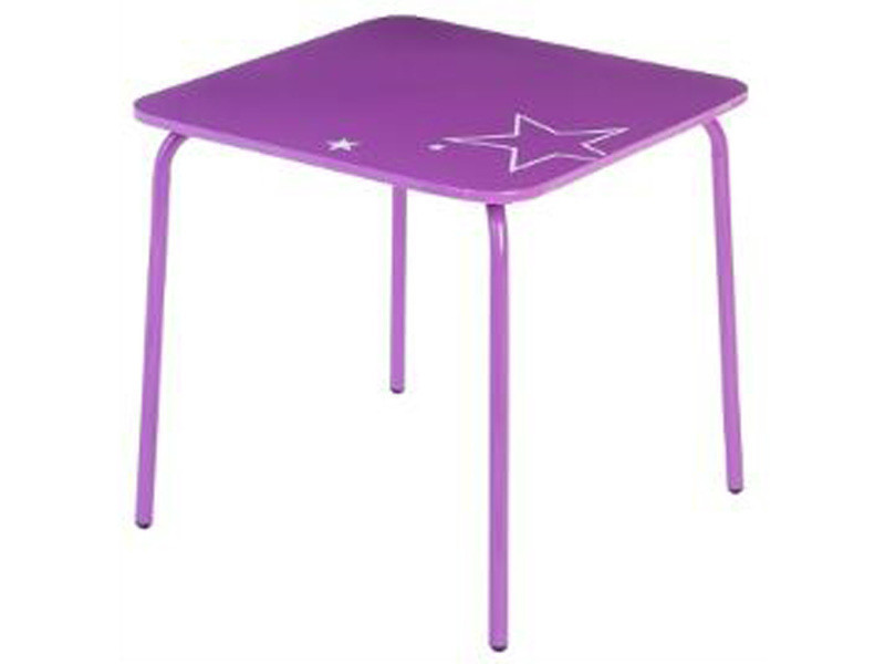 Table en métal pour enfant coloris violet - dim : l.48 x l.48 x h.48 cm -pegane-