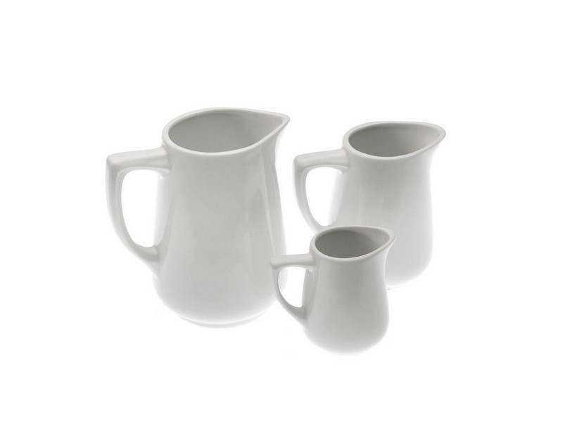 Autres accessoires et ustensiles de cuisine moderne capacité 125 ml pot à lait porcelaine blanche