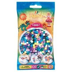 Sachet de 1000 perles hama midi : 11 couleurs