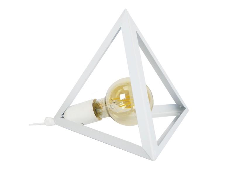 Tosel Acier Métal Poser Tétraèdre Plastique Lampe 1xe27 Et Blanc A yY6gbf7