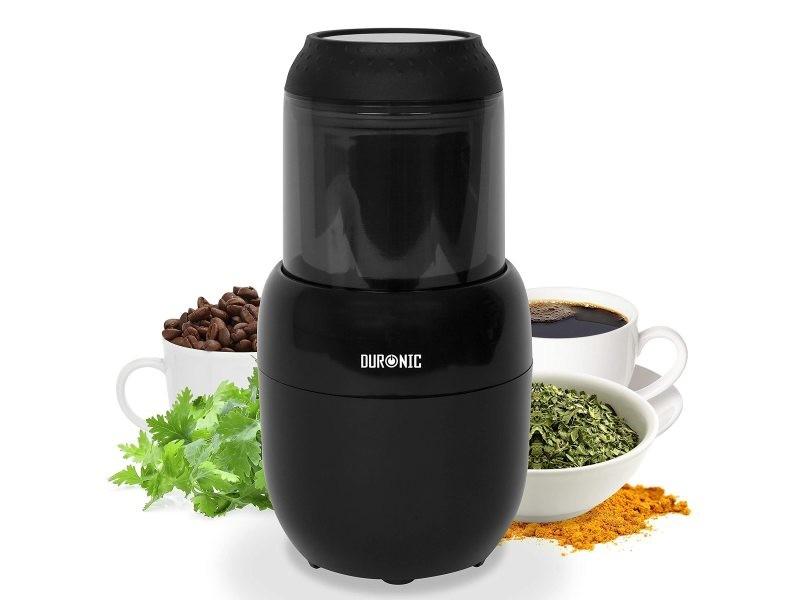 Duronic cg300 moulin à café électrique de 300w - 100g - broyeur à épices / graines / céréales / herbes / fruits à coques avec lames en inox - meule en inox de 100 g de capacité