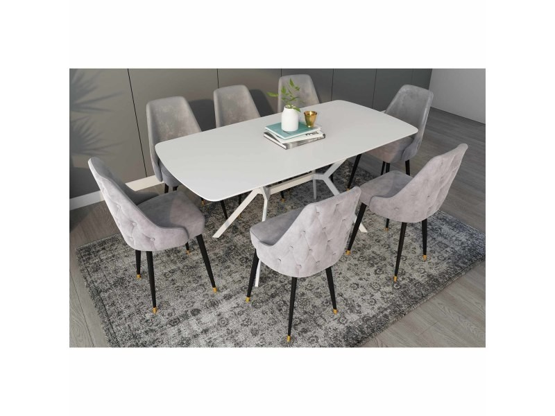 Table A Manger Extensible Laque Blanc Pieds Metal 4 6 Personnes Araxie Zl202000481 Tab Bla Vente De Table Conforama