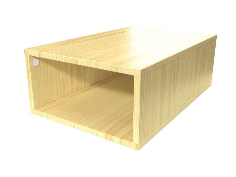 Cube de rangement bois 75x50 cm miel CUBE75-M