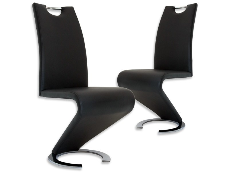 Lot de 2 chaises noir design hugo vente de chaise conforama