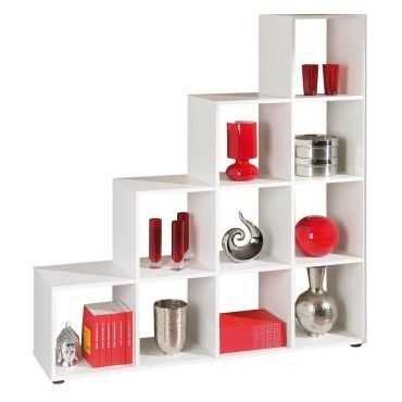 meuble de s paration design escalier coloris blanc p 816 co pedro vente de comforium conforama. Black Bedroom Furniture Sets. Home Design Ideas