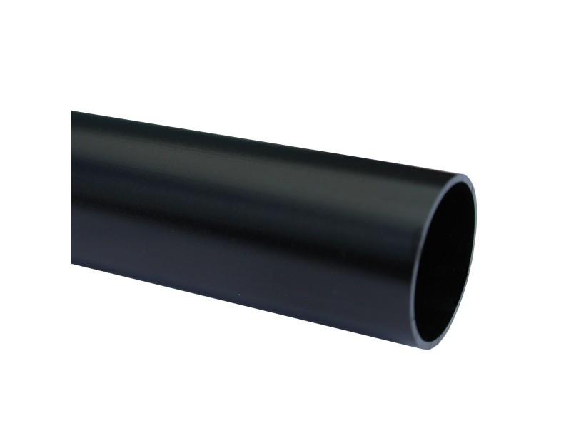 Lot de 1_tube aluminium anodisé longueur 200 cm ø 30 mm noir