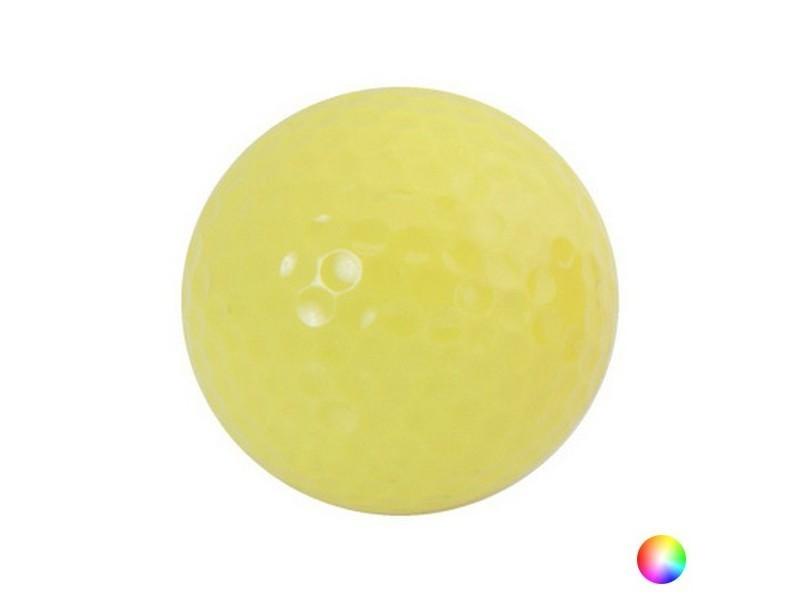Balle de golf en résine coloré - balle 4,2 cm couleur - jaune